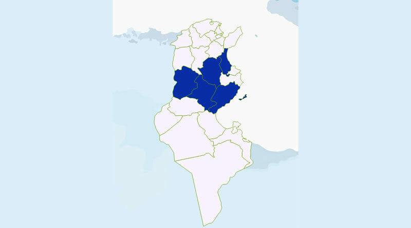 Niederschlagsmengen Tunesien: Mi., 10 Juni – Do., 11 Juni 2020, 7 Uhr