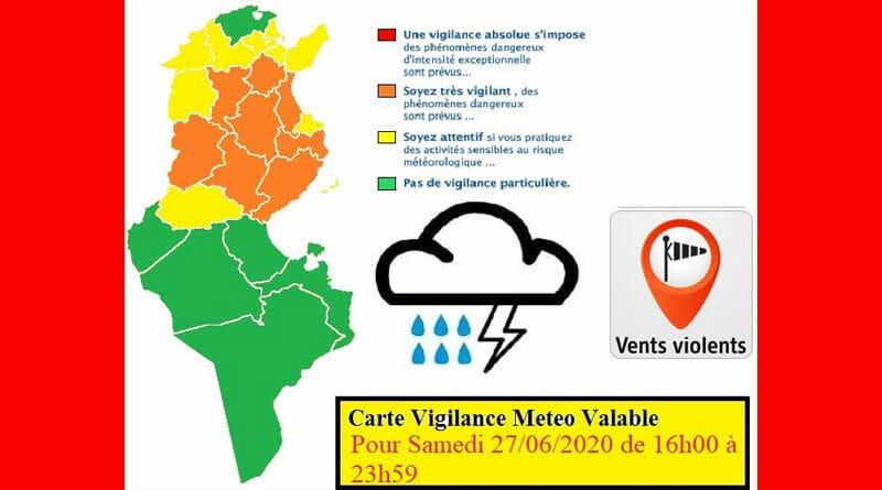 27.06.2020 - Warnung vor Gewittern, stürmischen Winden und Regenfällen