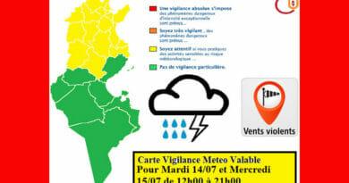 14.-15.07.2020 – Warnung vor Gewittern, stürmischen Winden und Regenfällen