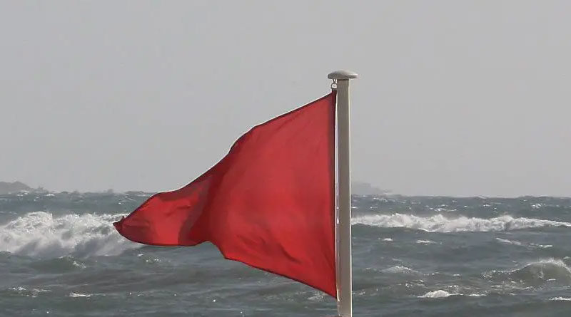 Meeresströmungen Rote Flagge - Badeverbot