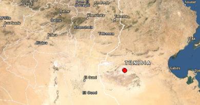 17 Aug 2020: Leichtes Erdbeben am Chott Djerid (M3.3)