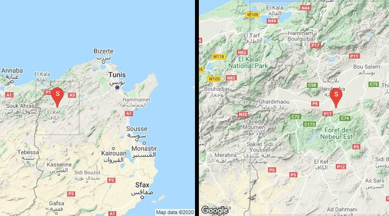 1 Sep 2020: Erdbeben zwischen Kef und Jendouba (M3.12)