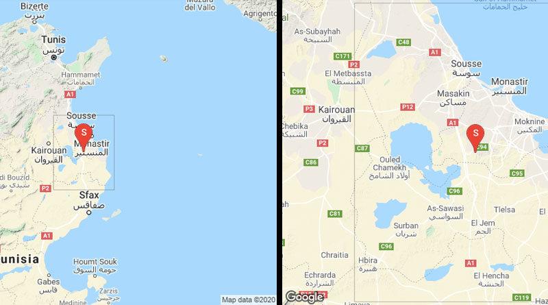 6 Sep 2020: Erdbeben südlich von Msaken und westlich Moknine