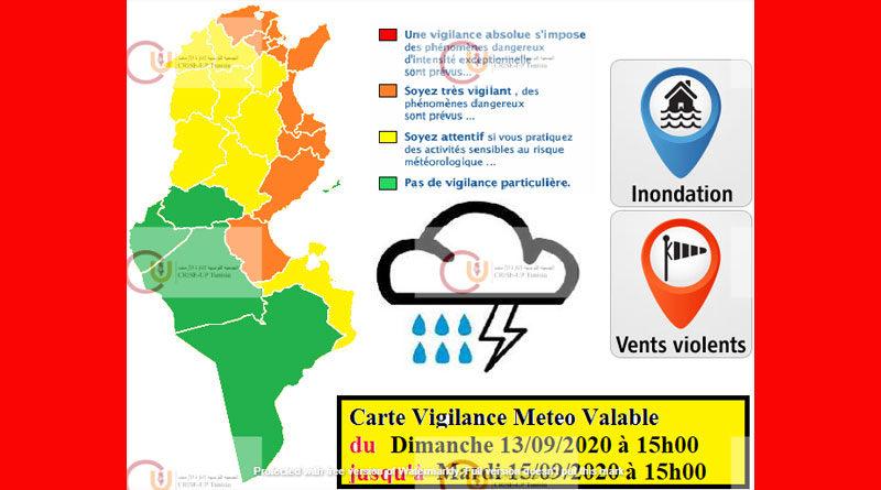 13 Sep - 15 Sep 2020: Warnung vor Starkregen, Überflutung, Starkwind