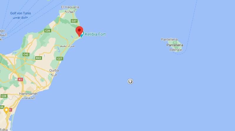 10 Okt 2020: Erdbeben südöstlich Kelibia im Gouvernorat Nabeul [M3.23]