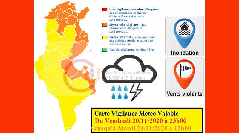 20 Nov - 24 Nov 2020: Warnung vor Starkregen, Überflutung, Starkwind