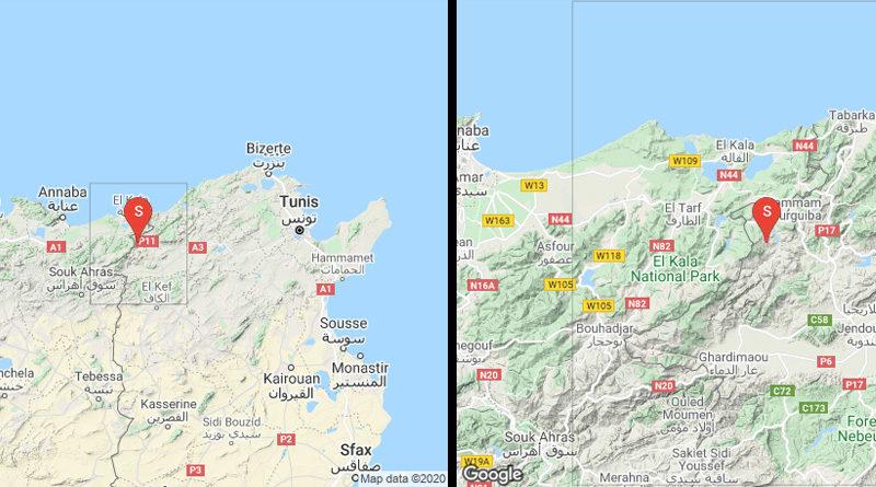 4 Dez 2020: Leichtes Erdbeben im Gouvernorat Jendouba [M3.44]