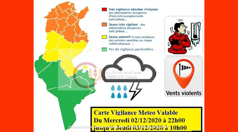 Warnung vor Kälte, Wind und Niederschlägen ab Mi, 2 Dez 2020