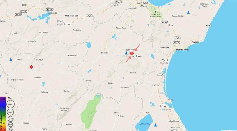 12 Jan 2021: Erdbeben im Gouvernorat Zaghouan [M2.94]