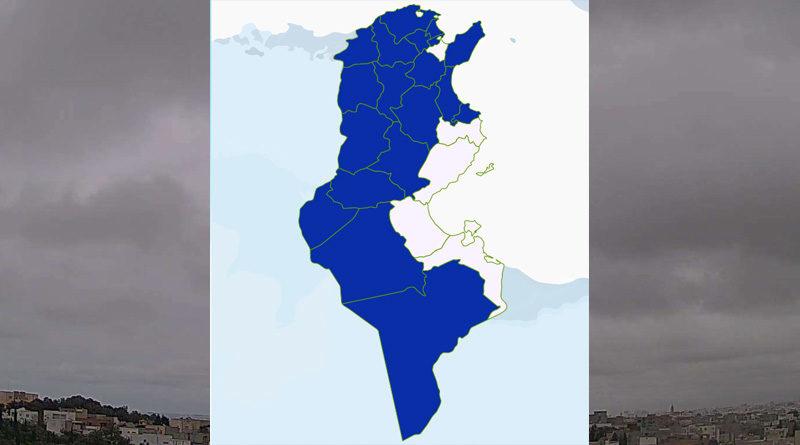 Niederschlagsmengen Tunesien: Sa, 20 März – So, 21 März 2021, 7 Uhr