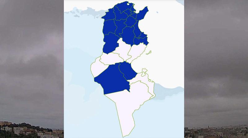 Niederschlagsmengen Tunesien: So, 21 März – Mo, 22 März 2021, 7 Uhr