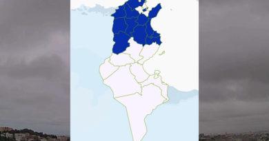 Niederschlagsmengen Tunesien: Mo, 22 März – Di, 23 März 2021, 7 Uhr