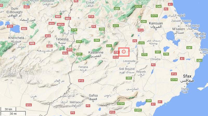 9 Juni 2021: Erdbeben bei Jelma im Gouvernorat Sidi Bouzid [M2.62]
