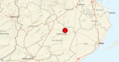 10 Sep 2021: Erdbeben im Gouvernorat Sidi Bouzid [M3.70]