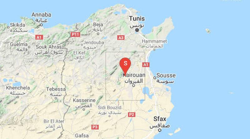 4 Sep 2021: Erdbeben im Gouvernorat Kairouan [M3.19]