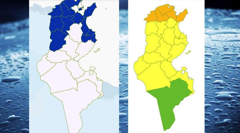 Niederschlagsmengen Tunesien: 23 Okt 2021 – 24 Okt 2021, 7 Uhr