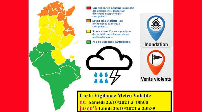 Ab Sa., 23 Okt 2021: Warnung vor Gewitter, Starkregen, Überflutung, Wind